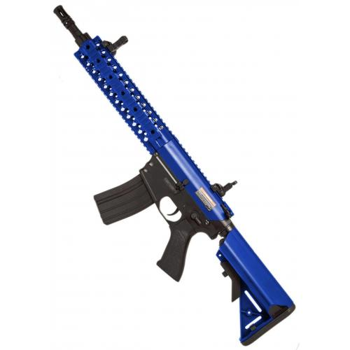 ** NEW** ELECTRIC CYMA CM.501 M4 CQB RIS - Black - Two Tone Blue
